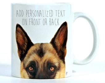 German Shepherd, German Shepherd Mug, Personalized German Shepherd Gift