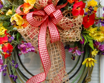 Western Rope Wreath, Summer Wreath, Lariat Rope Wreath, Decorative Wreath