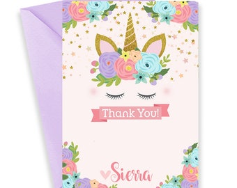 Unicorn Thank You Card, Unicorn Thank You Printable, Unicorn Thank You, Unicorn Note Cards, Unicorn Note, Unicorn Stationary, Unicorn | 656