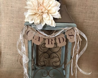 Elegant Wedding Lantern Card Holder, Rustic Wedding Lantern, Money Holder, Card Box, Wedding Lantern