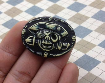 10psc 30x40mm Resin Cameo Pendant Cameo Skull Cameo Choose,Resin Skull Pirate
