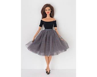 Tulle skirt for Barbie and Poppy Parker. 8 colors to choose