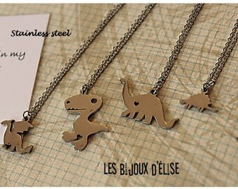 Dinosaur Necklace Prehistoric Animal Necklace Frindeship (CO58) - Stainless Steel