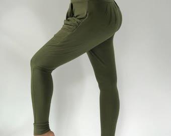 YG0042 Solid Green 100% Rayon Wide Leg, So Cool Fabric, Yoga Pants super soft