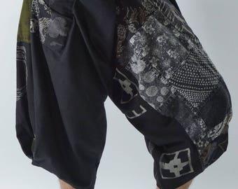 SR0278 Samurai pants with Unique Hilltribe fabric Wrap Around