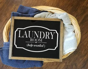 Laundry Room Help Wanted Sign Laundry Help Wanted  Etsy