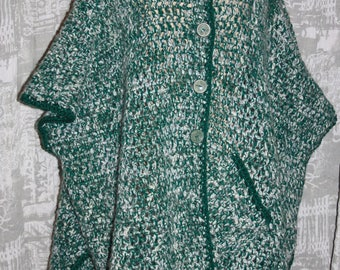 Super warm mohair and wool poncho/coat