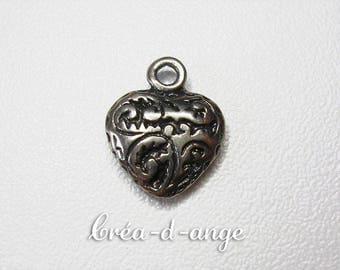 1 decorated Heart Charm pendant Charm