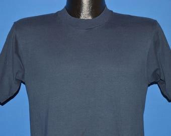 90s Screen Stars Navy Blue Blank t-shirt Small