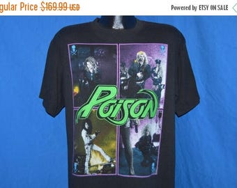 ON SALE 80s Poison Open Up and Say Ahhh 1988 Tour t-shirt Large