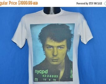 XMAS in JULY SALE 80s Sid Vicious Mug Shot Boy London t-shirt Small