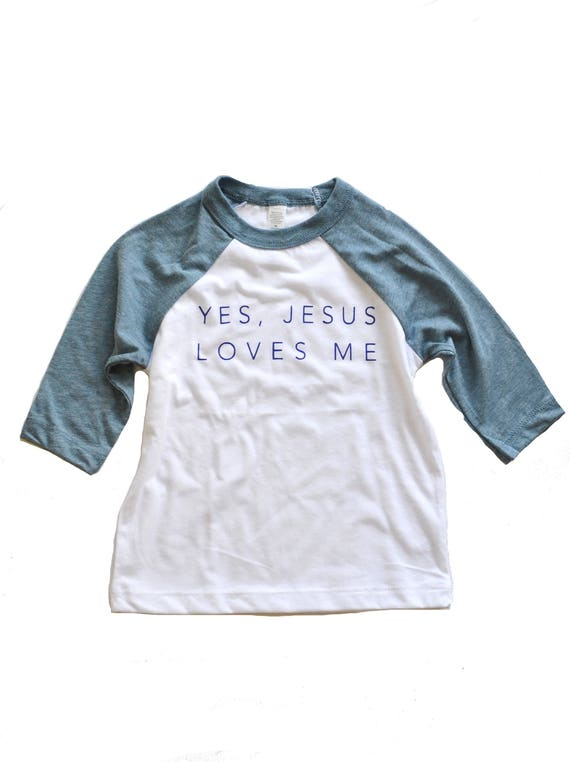 Jesus Loves Me Tee, Blue - Toddler & Youth