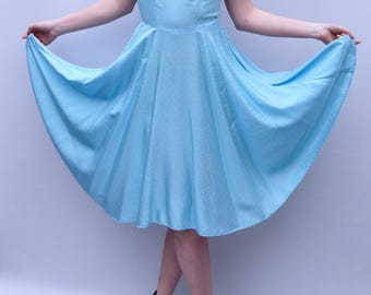 Baby Blue Amy Dress UK size 10-12 - alice in wonderland style party dress handmade by The Emperor's Old Clothes
