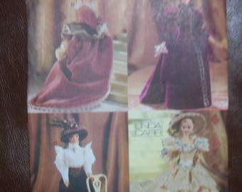 "Vogue 9759 11 1/2"" fashion doll period costumes"