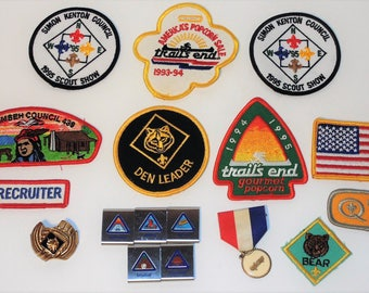 Lot of Vintage Boy Scout Patches, Activity Awards, Cloth Patches, Scouting Collectibles