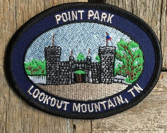 Point Park Lookout Mountain Tennessee Vintage Souvenir Travel Patch