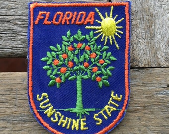 LAST ONE! Florida Sunshine State Vintage Travel Patch by Voyager