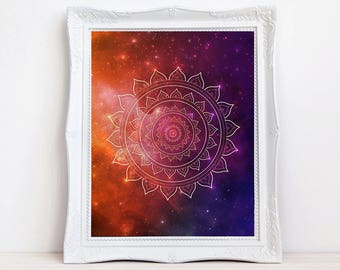 bohemian sacred geometry art print
