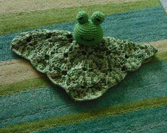 Frog Baby Lovey Blankie