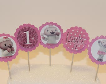24 LAMBIE Cupcake Toppers (Birthday Cupcake Toppers)