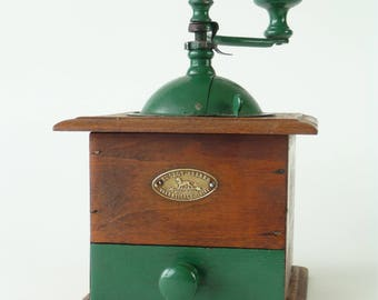 Small Antique French Peugeot Freres Coffee Grinder