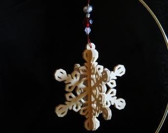 Embellished Slotted Fret Snowflake