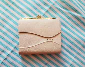 Ivory and Gold Leather Wallet
