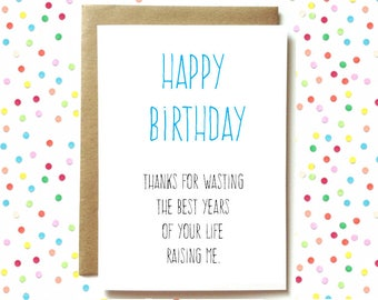 funny birthday card for mom mum or dad funny parent birthday card mom birthday