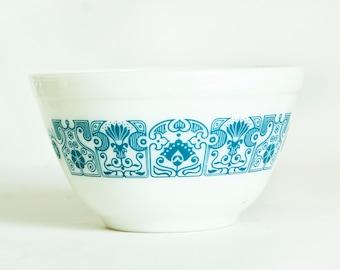 Vintage Pyrex Horizon Blue Mixing Bowl, Turquoise Prep Bowl 401, 1 1/2 Pint, 750 ml, Made in USA