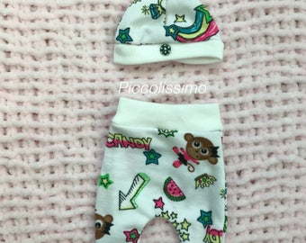 """8"""" trouser set with hat"""