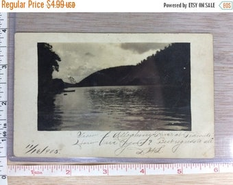 10% OFF 3 day sale Vintage Old PostCard View Of Allegheny River At Tidioutte Pa 1905 Used