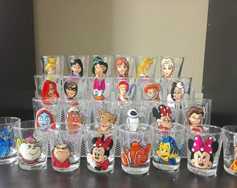 1 Hand Painted Shot Glass: Your choice of character