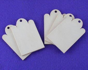 10 Wood Pendant, 4.5 x 7 cm (03-0010A)
