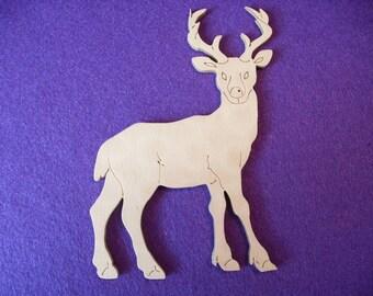 1 dee,r wood, 13.5 x 9.5 cm  (10-0001B)