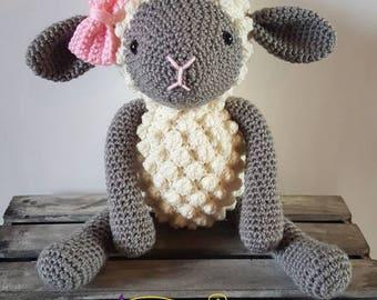 Crochet Stuffed Lamb EASTER SALE!