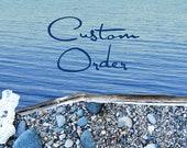CUSTOM ORDER for J, Seed Bead Colorful Anklet, Cobalt Blue Adjustable Bracelet, Bohemian Crochet Jewelry