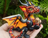 Fire Baby Dragon Sculpture