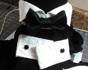 Dapper Hound Bow Tie Collar and Cuff Set
