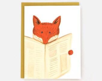 Felix Fox - funny animal greeting card / BLK-FOX