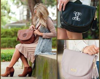Monogrammed Crossbody Bag, Monogrammed Bag, Personalized Purse, Monogrammed Purse, Tassel Crossbody Bag, Crossbody Purse, Crossbody Bag