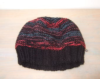 Beanie Hat - Knit Hat - Wool Beanie - Chunky Knitted Hat - Chunky Knit Beanie - Knit Beanie Hat - Knitted Beanie - Colourful Hat