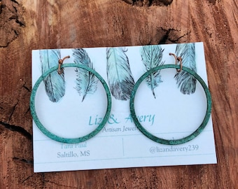 Tribal earrings boho earrings rustic earrings gypsy earrings patina earrings tribal jewelry