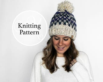 Knitting Pattern Odenton Hat Instant Download