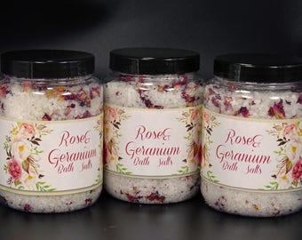 Rose Geranium Bath Crystals