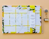 A4 Citrus Lemon Wellness Planner/organiser