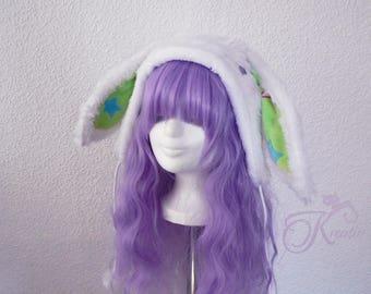 Snow bunny hat (green)