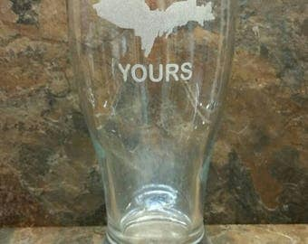 UP Yours Upper Peninsula of Michigan Pilsner, Wine Glass, Mug or Glass