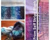 Blue Regular Sock Microstripe - self stripe sock yarn from a blank (OOAK 13)