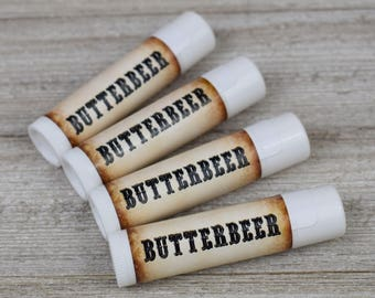 Butterbeer Lip Balm - All Natural Lip Balm - Handmade Lip Balm - Geeky Lip Balm