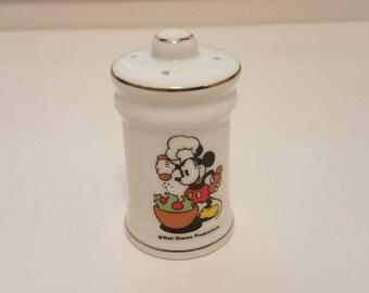 Vintage Disney Chef Salad Mickey Mouse Salt or Pepper Shaker